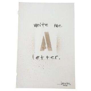 "Graffiti Art ""Write Me a Letter"""