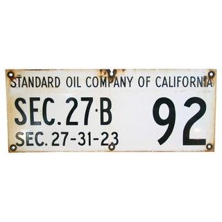 Heavy Standard Oil of California Porcelain Sign