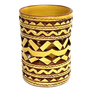 Moroccan Hand Painted Yellow Tealight Cup Holder