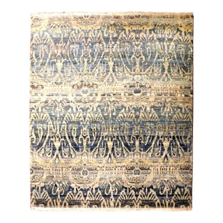 Hand Knotted Indian Ikat Rug - 8'x 10'