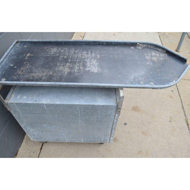Bar on Wheels / Potting Table / Plant Stand from Galvanized Vet Exam Table - Image 10 of 10