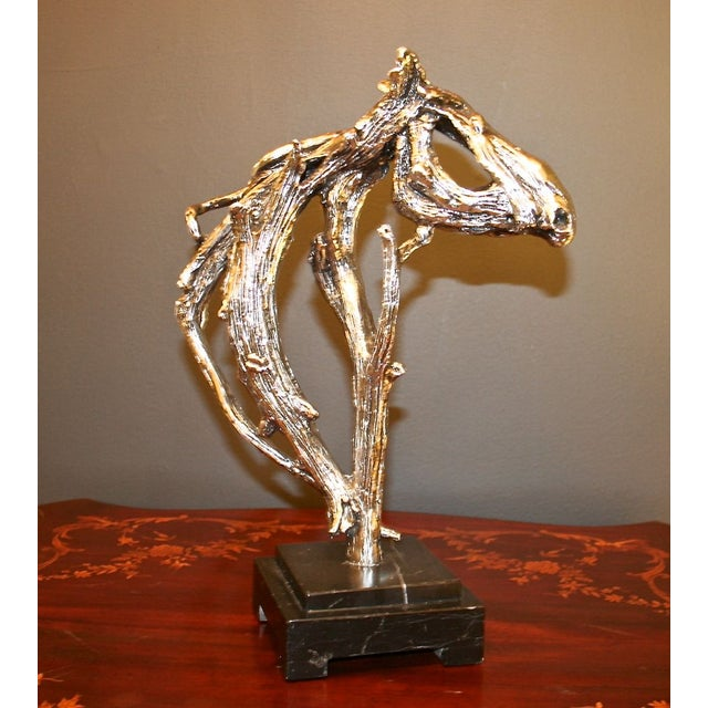 Image of Silver Horse Head Casting