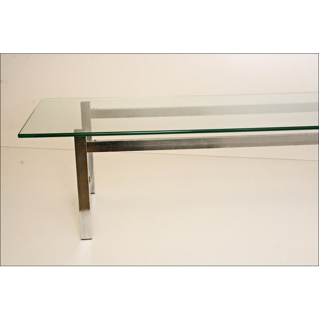 Mid-Century Modern Chrome & Glass Coffee Table - Image 4 of 11
