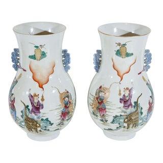 Colorful Republic Period Vases