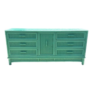 American of Martinsville Palm Beach Regency Vintage Triple Dresser Credenza