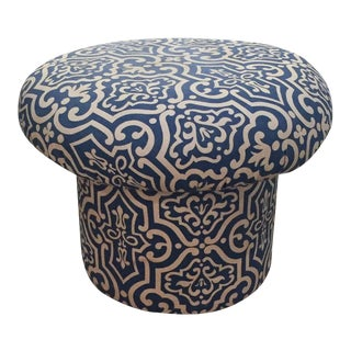 Mid-Century Mushroom Shaped Upholstered Foot Stool
