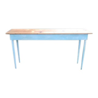 Handcrafted Wood Console Table