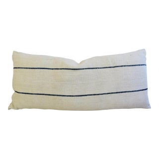 Long French Homespun Feather/Down Body Pillow