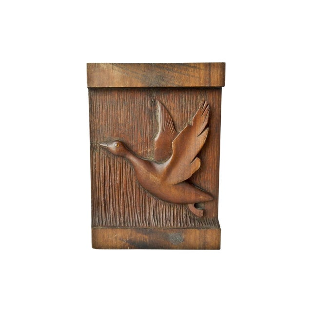 Image of Hand Carved Wood Duck Wall Hanging