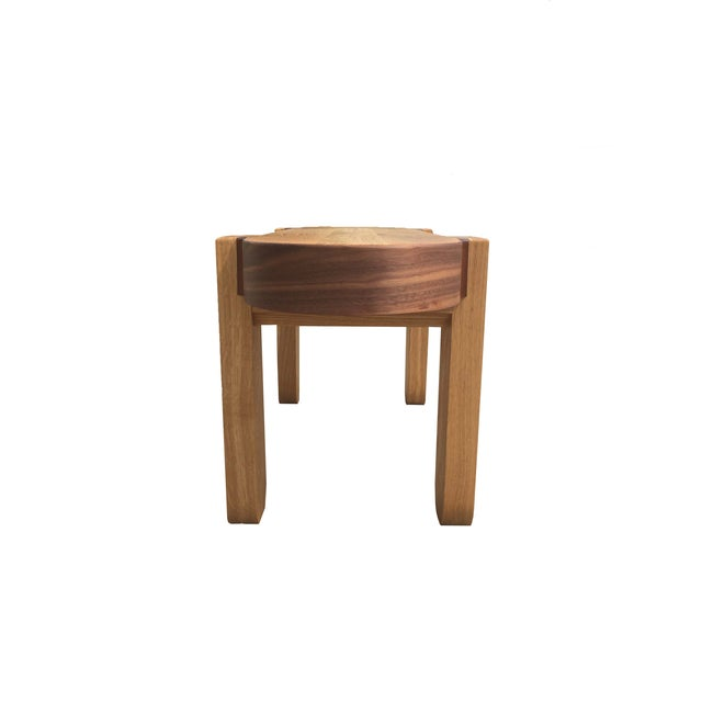 White Oak & Walnut Contemporary Coffee Table