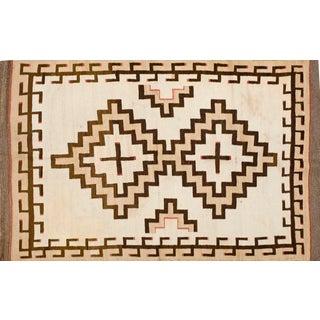 "Navajo-Style Wool Rug - 4' x 5'8"""