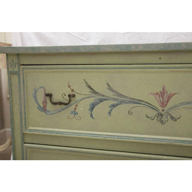 19th Century American Continental Green-Painted Chest - Image 8 of 9