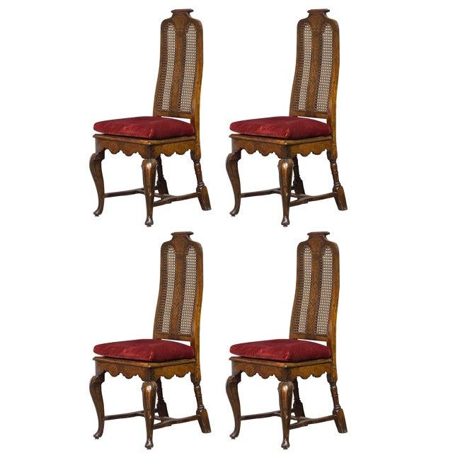 Image of Antique Sarreid LTD Walnut Dining Chairs - Set of 4