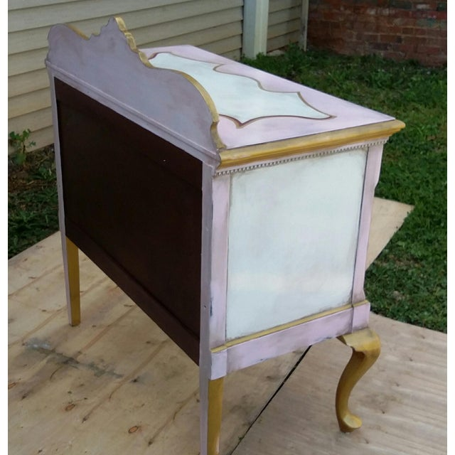 Custom Hand Painted Queen Anne Style Server - Image 5 of 9