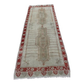 Vintage Turkish Wool Runner - 3′ × 8′