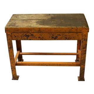 Painted Industrial Iron Table