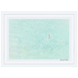 "Gray Malin Large ""Girl in Pink, Bora Bora"" (à La Plage) Signed Limited Edition Framed Print"