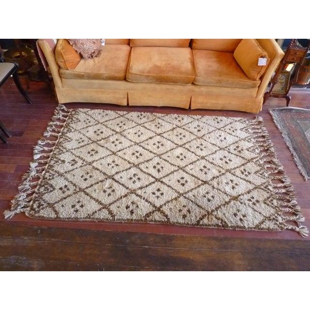 Vintage Handmade Moroccan Rug - Image 3 of 9