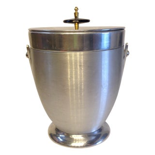 Mid Century Chrome Ice Bucket