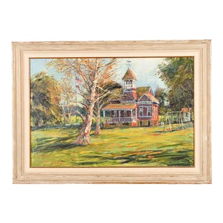 School House Oil Painting by Ben Abril