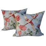 Scalamandre Floral & Bird Chinoiserie Pillows - a Pair