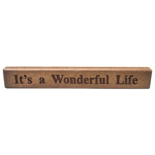Vintage It's a Wonderful Life Sign