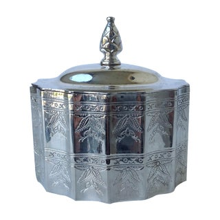 Silverplate Moorish Lidded Keepsake Box