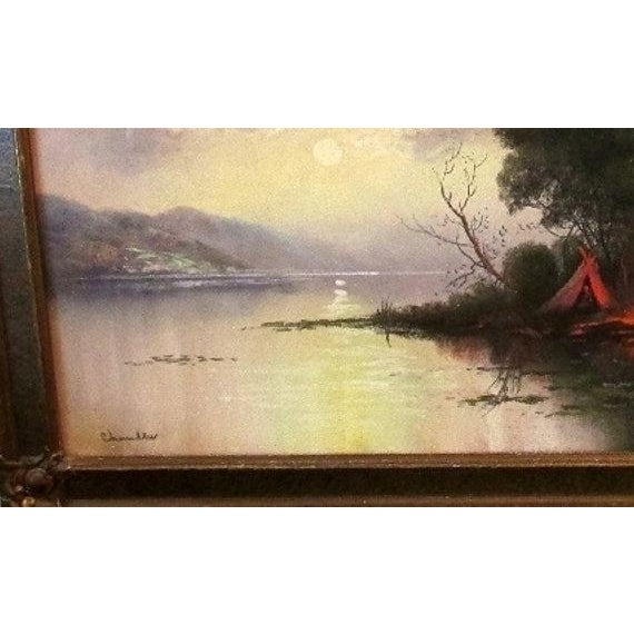 William Henry Chandler Framed Pastel Landscape - Image 3 of 4