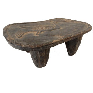 Senufo Low Milk Stool from the Ivory Coast