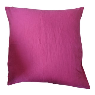 Bright Pink Linen Pillow