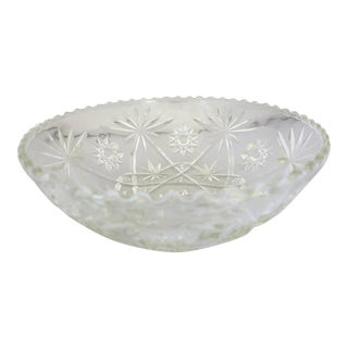 Mid-Century Star Design Press-Cut Bowl