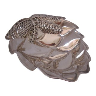 Silver-plate Pine Cone Serving Bowl