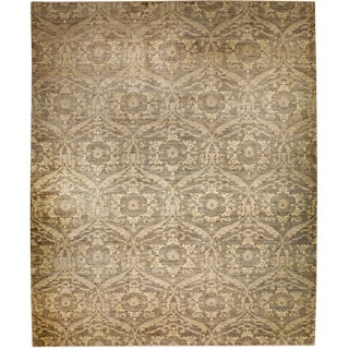 """Hand Knotted Afghan Wool Rug - 8'8""""x 12'"""