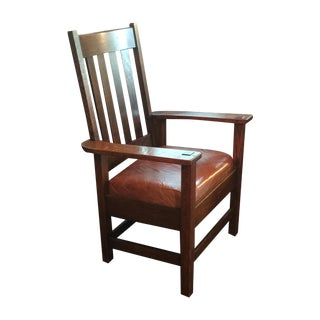 1915 JM Young-Attributed Mission Style Oak Chair