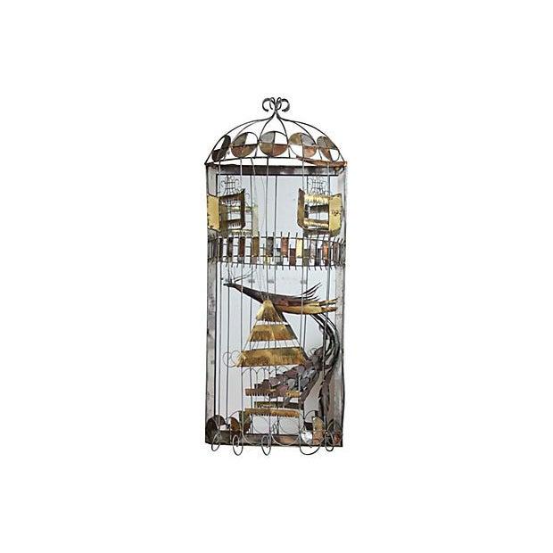 C. Jere Mirror Birdcage Sculpture - Image 1 of 4