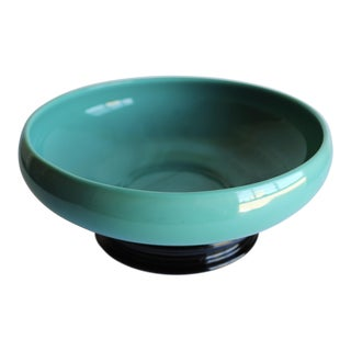 Vintage Turquoise Green Ceramic Bowl