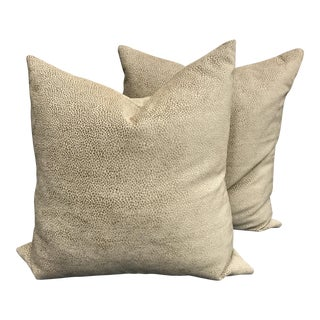 Textured Down Fill Pillows - A Pair