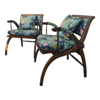 Weiman Mid-Century Neoclassical Armchairs- A Pair