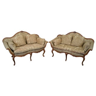 Southwood French Louis XV Serpentine Loveseats