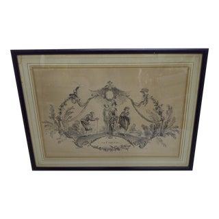 """""""La Coquette"""" by Apres Antoine Watteau Boucher"""