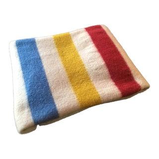 "Vintage Hudson Bay Wool Camp Blanket - 56"" X 43"""