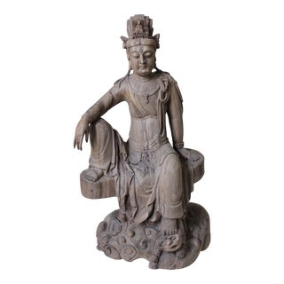 Antique Guanyin Hand-Carved Statue