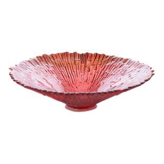 Mid-Century Modern Pavel Panek Starburst Glass Bowl