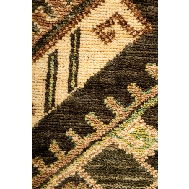"""New Tribal Traditional Hand Knotted Area Rug - 4'2"""" x 5'10"""" - Image 3 of 3"""