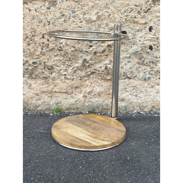Image of 80's Glam Style Chrome Round Side Table