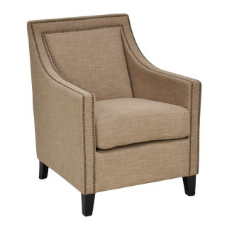 Contemporary Upholstered Linen Club Chair