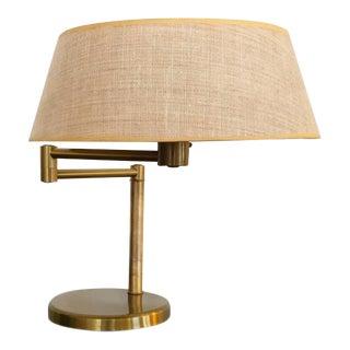 Brass Swing Arm Desk or Table Lamp by Walter Von Nessen