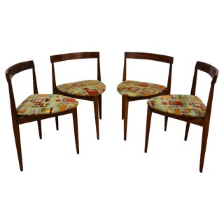 Danish Style Dining Chairs - Set of 4