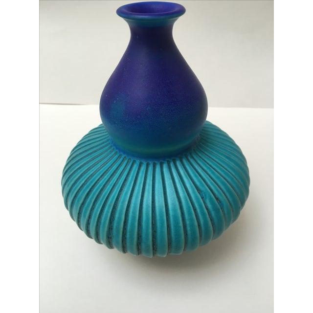 Studio Ceramic Teal Vase - Image 3 of 8