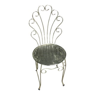 Vanity Chrome Plate Chair